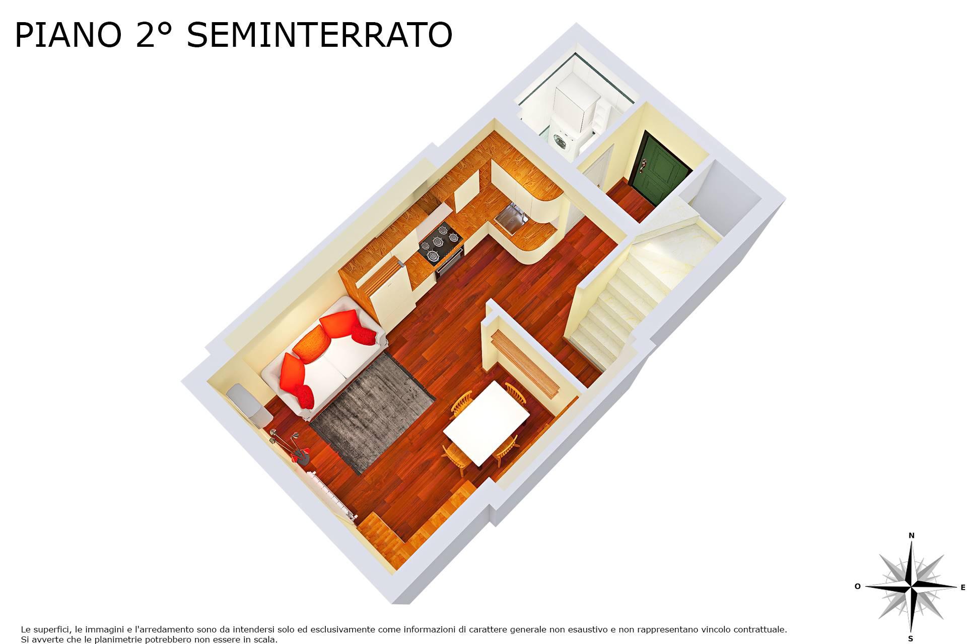 Planimetria 3D piano 2° seminterrato