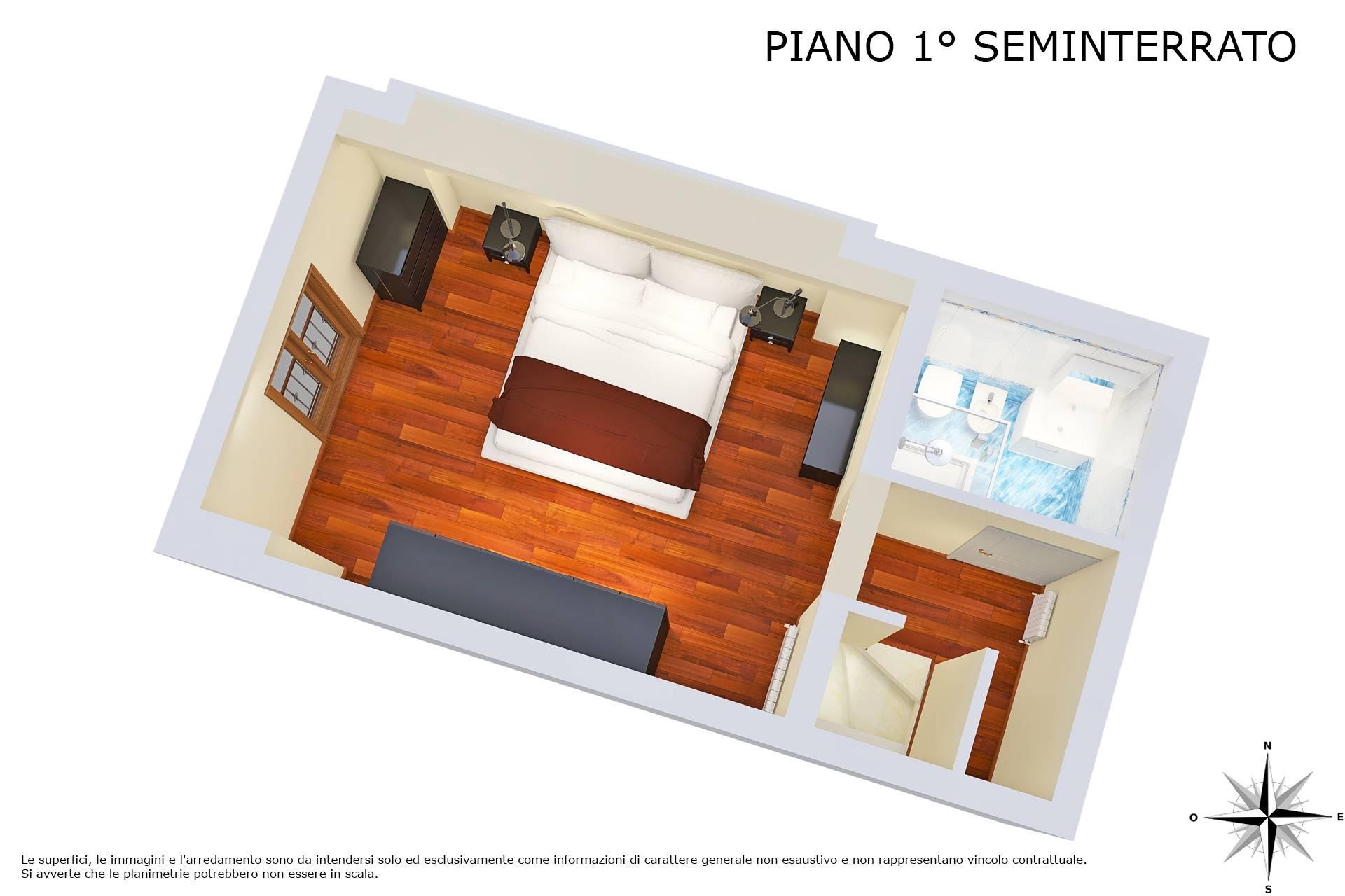 Planimetria 3D piano 1° seminterrato