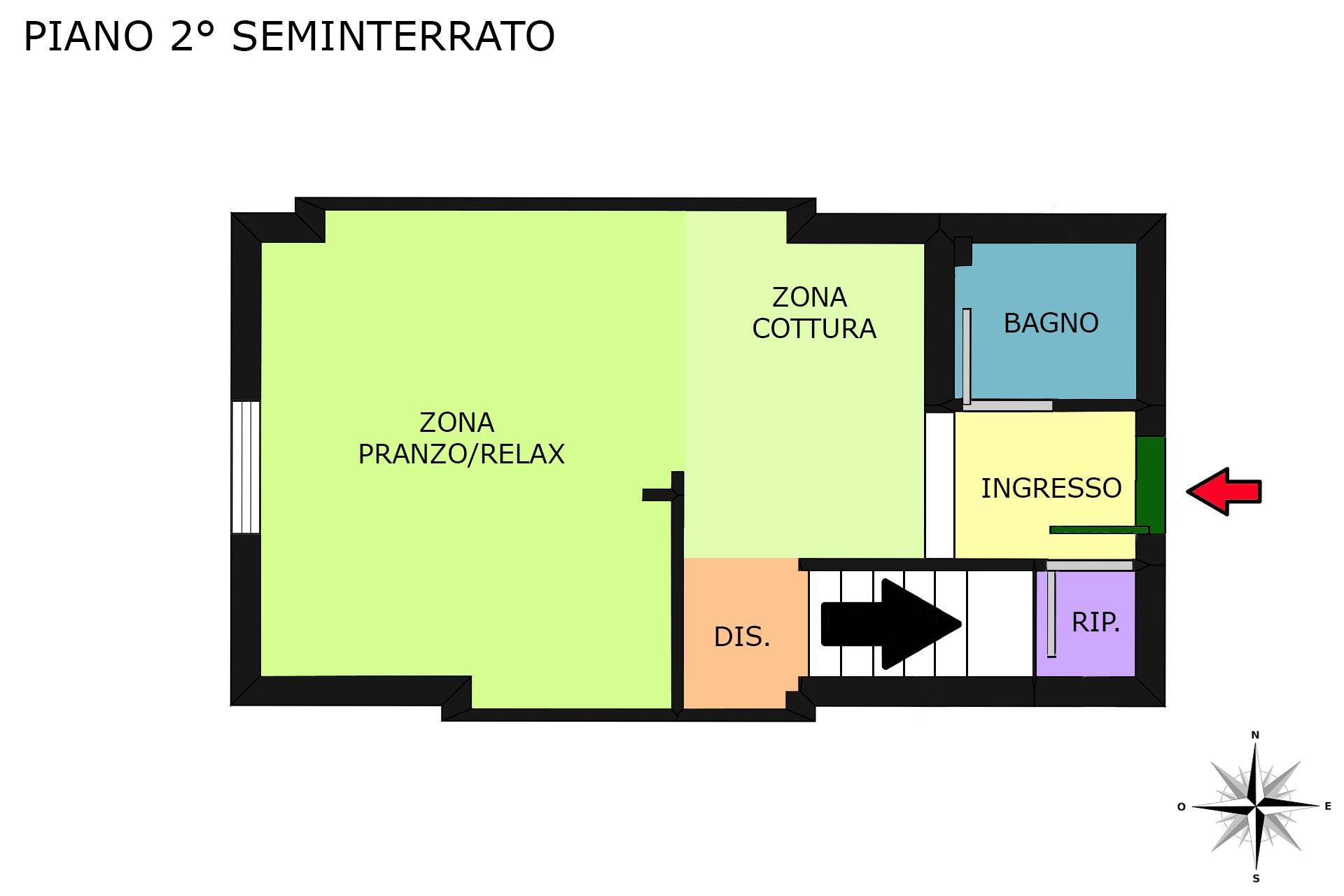 Planimetria 2D piano 2° seminterrato