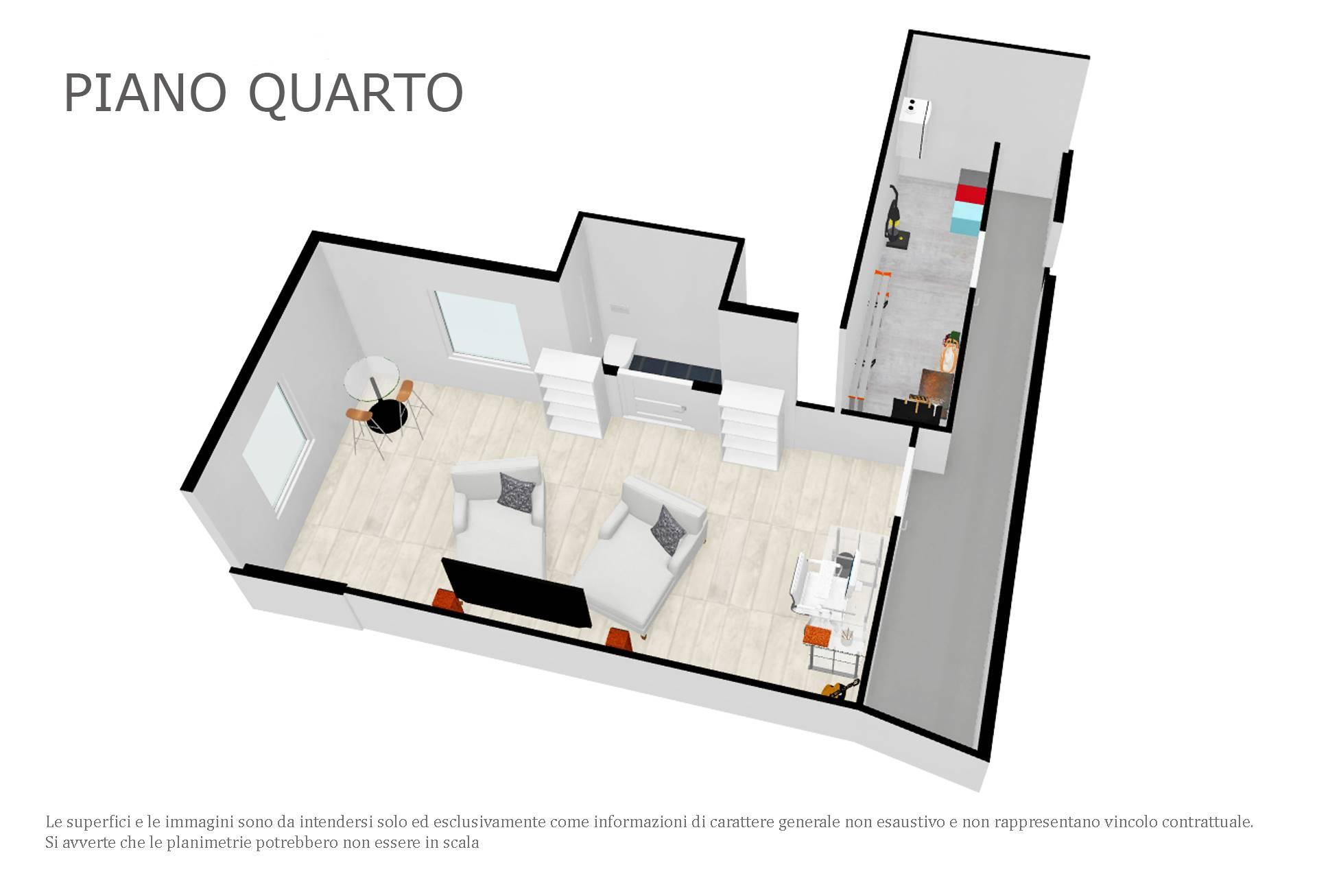 Planimetria 3D piano quarto