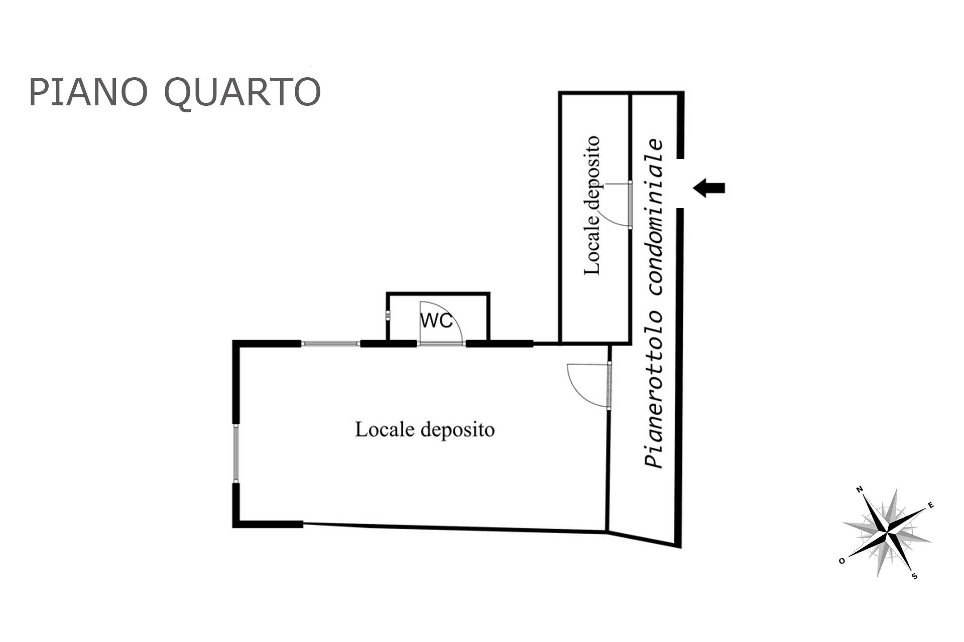 Planimetria piano quarto