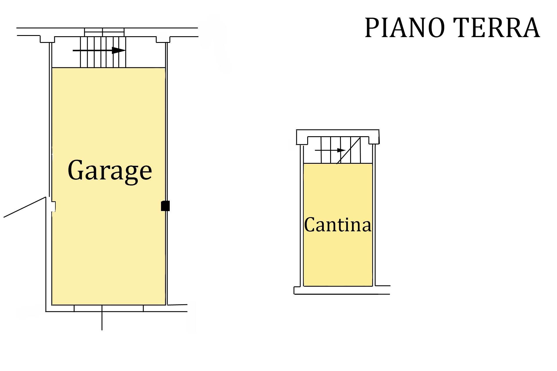 Planimetria garage e cantina