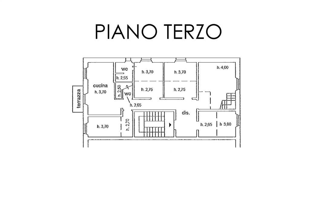 Piantina piano terzo
