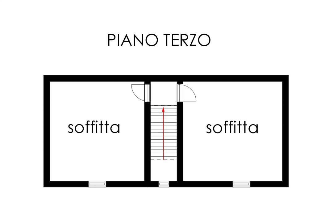Piantina piano terzo-soffitta
