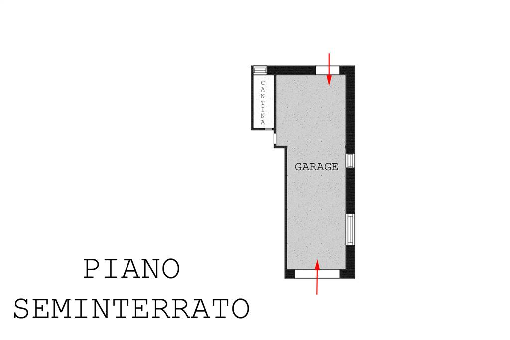 Piantina garage e cantina
