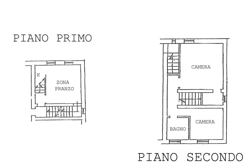 Planimetria piano primo-due livelli