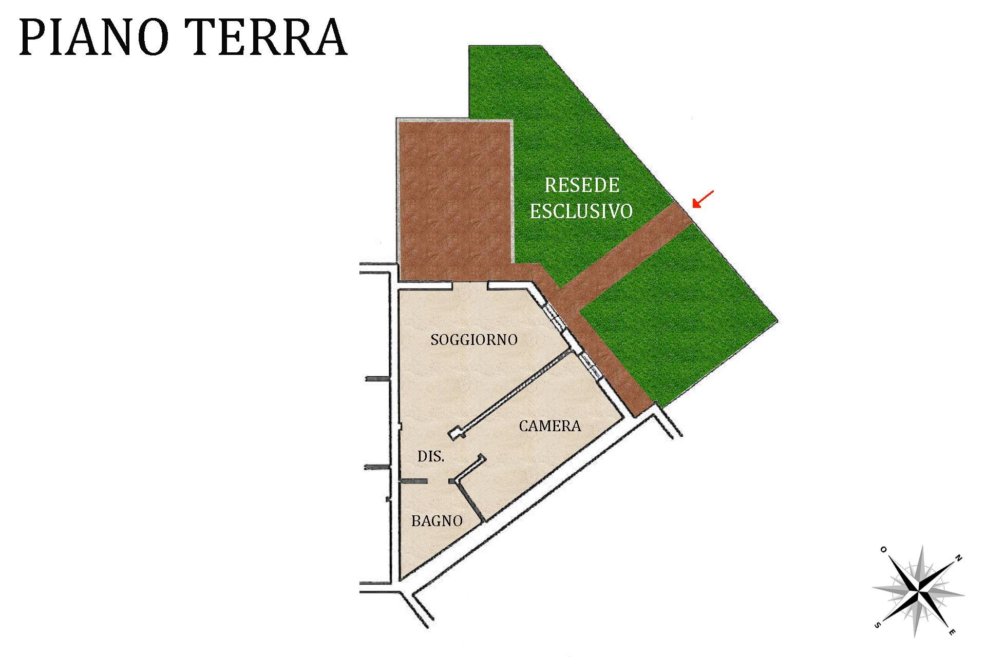 Planimetria appartamento e resede esclusivo