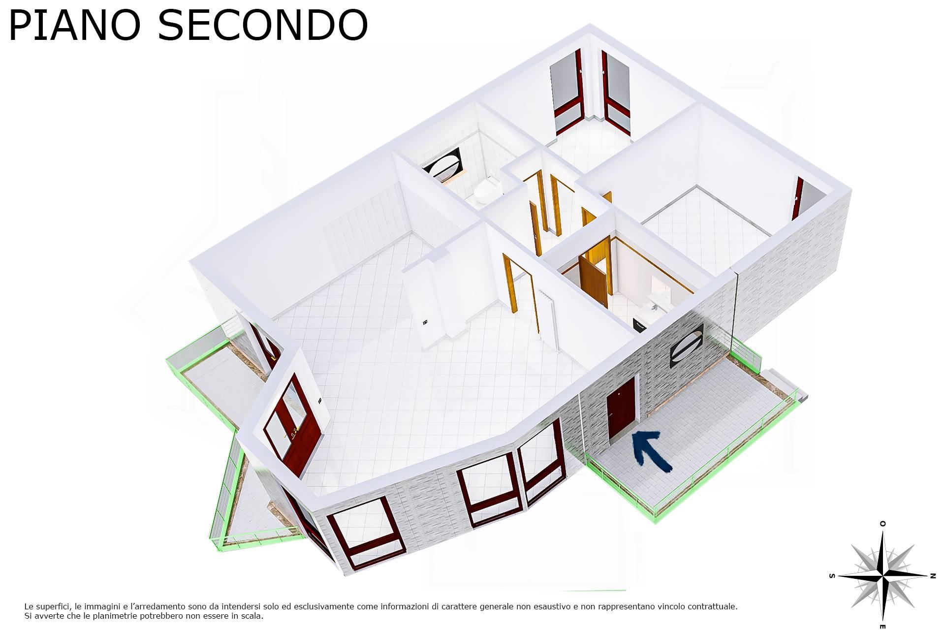 Planimetria 3D lato soggiorno