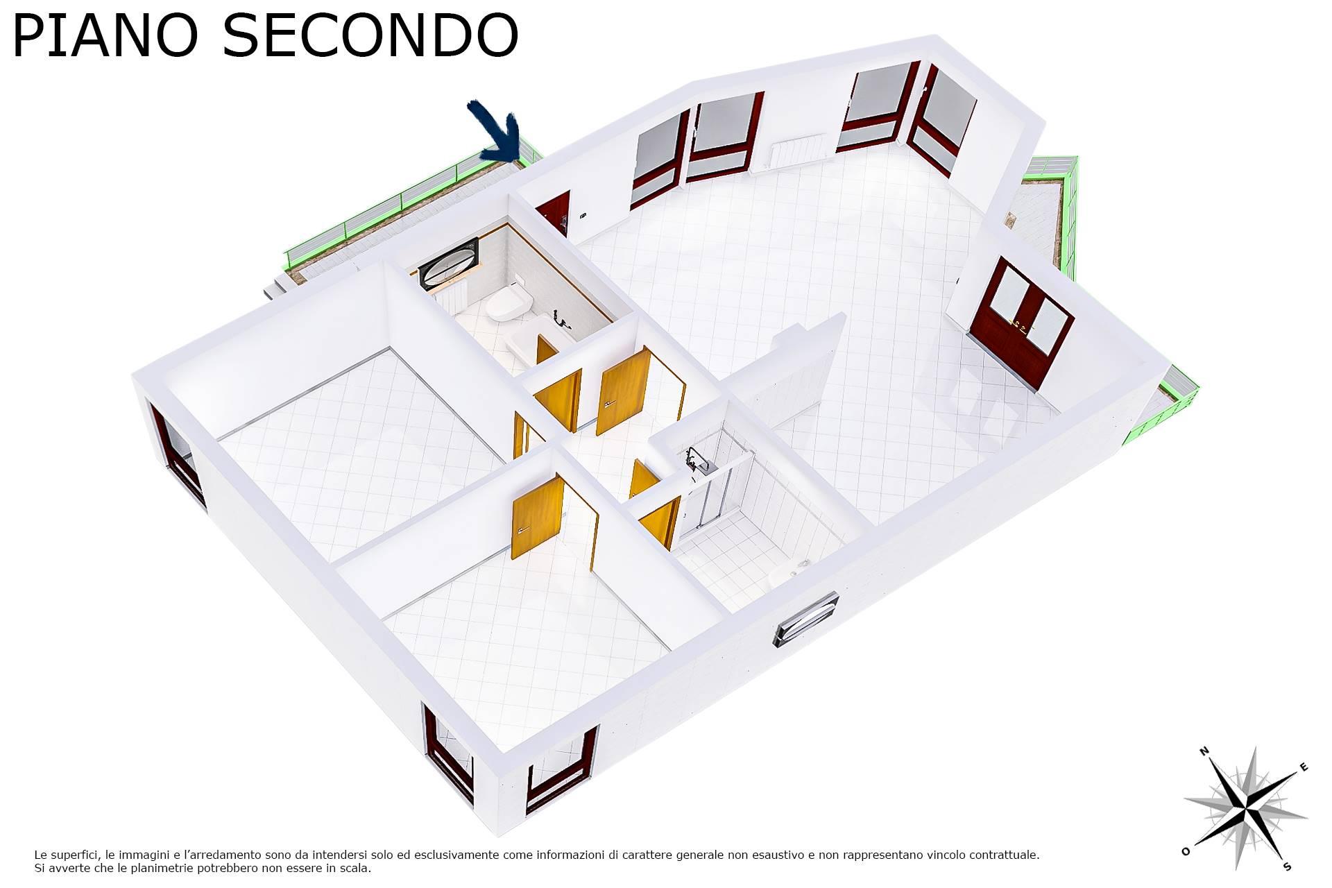Planimetria 3D lato zona notte