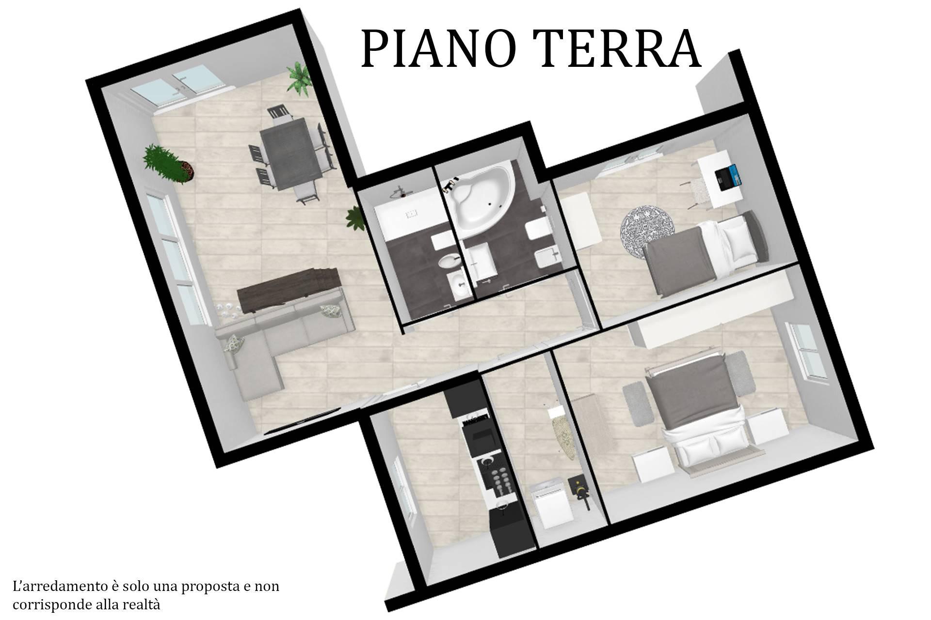 Planimetria arredata appartamento