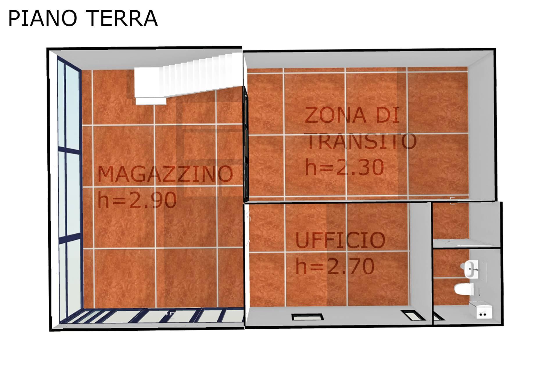 Planimetria realistica piano terra 2D