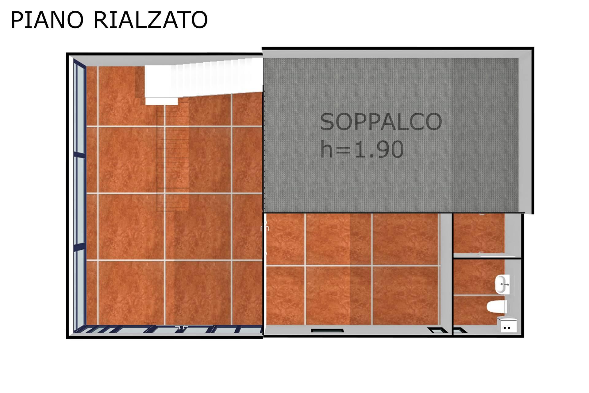 Planimetria realistica soppalco 2D