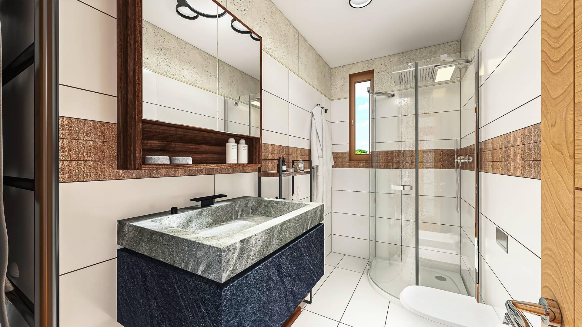 Rendering bagno principale