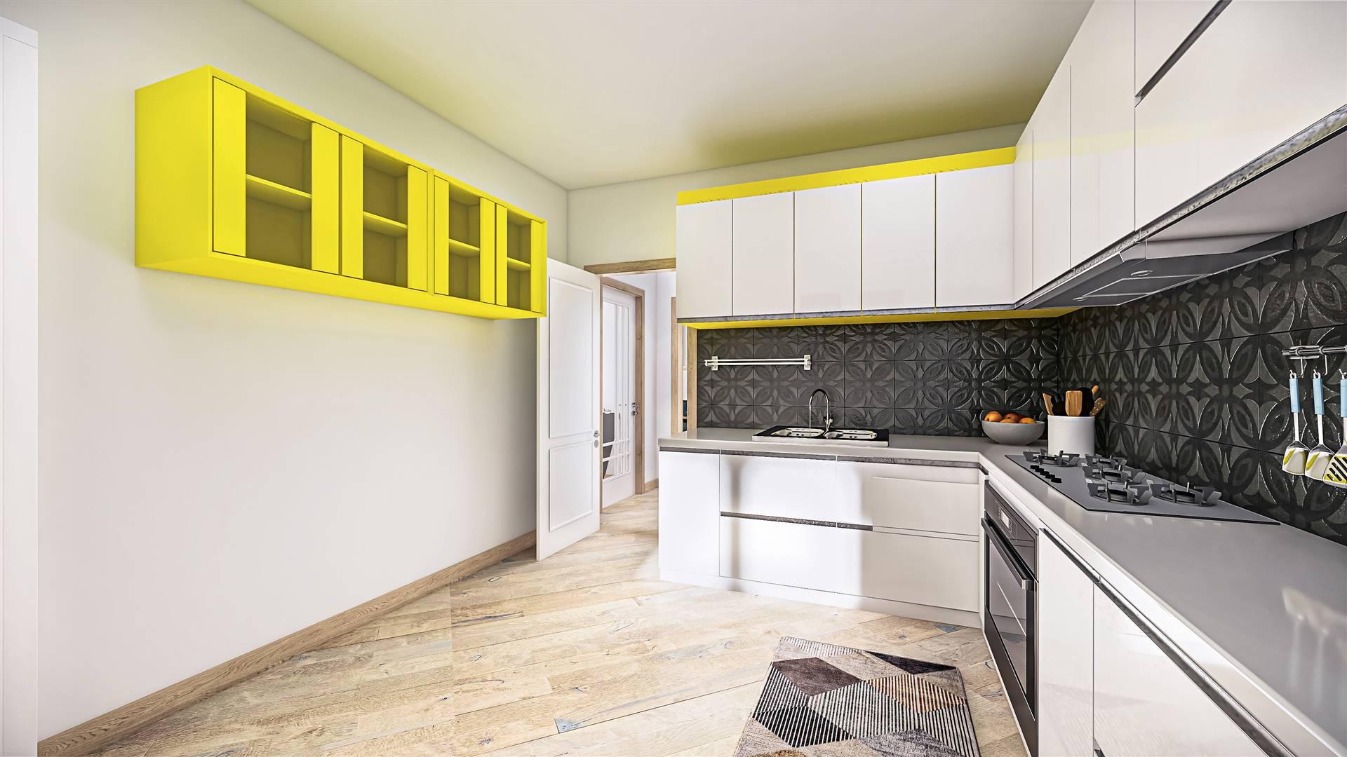 Rendering cucina post ristrutturazione