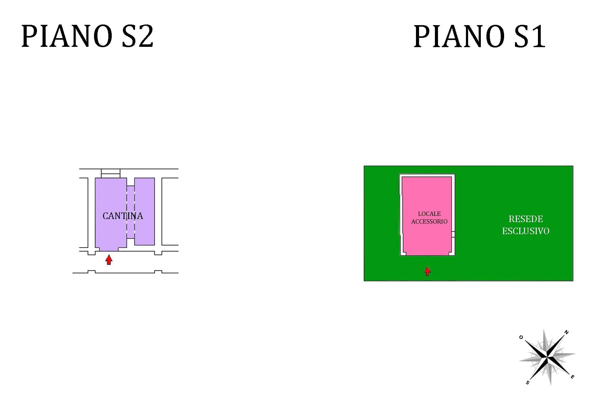 Planimetria cantina, resede e locale accessorio 2D