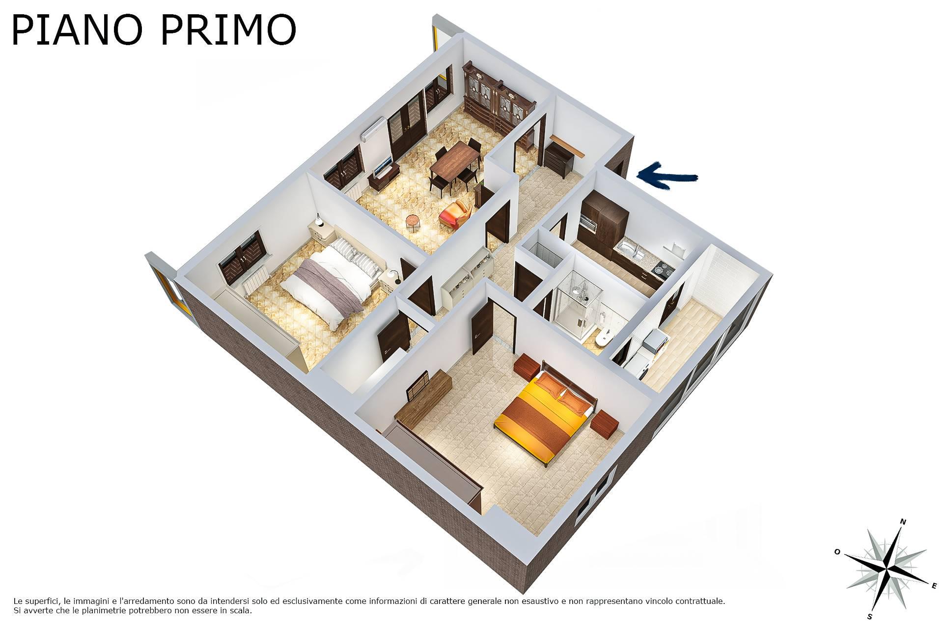 Planimetria 3D lato camere