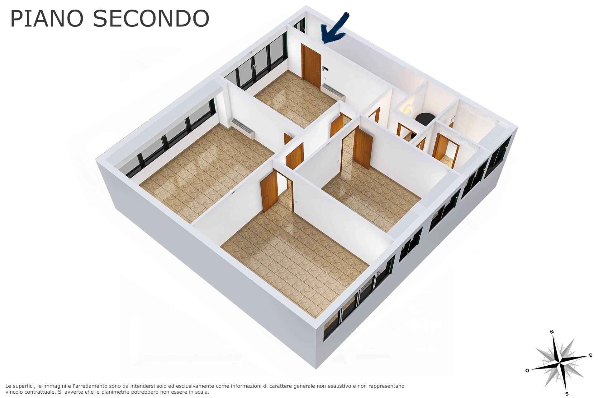Planimetria 3D lato ambienti