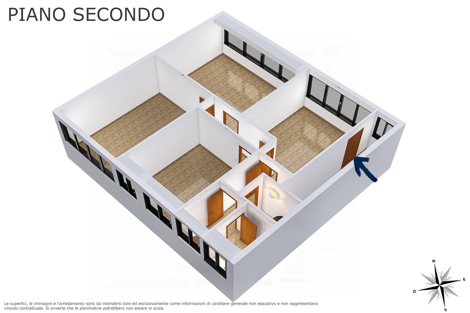 Planimetria 3D lato scala a due