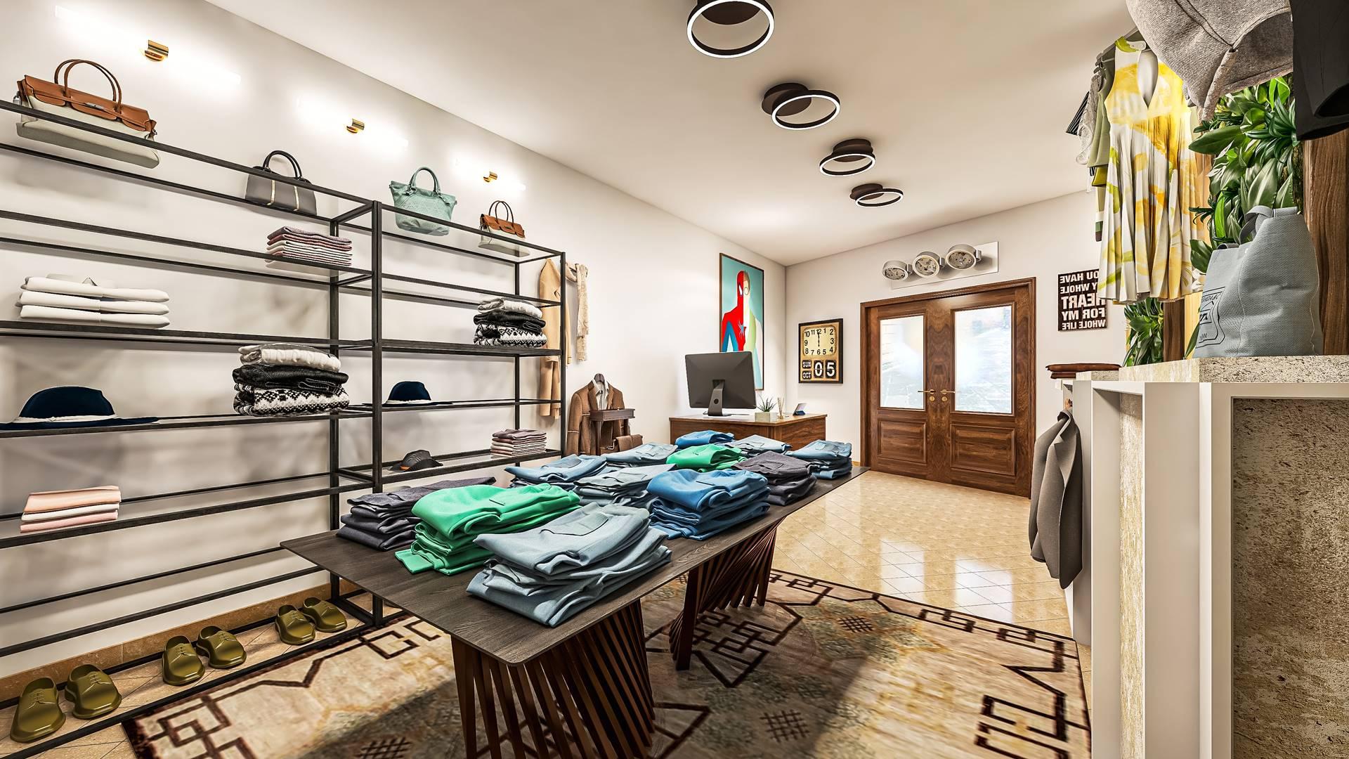 Rendering negozio abbigliamento