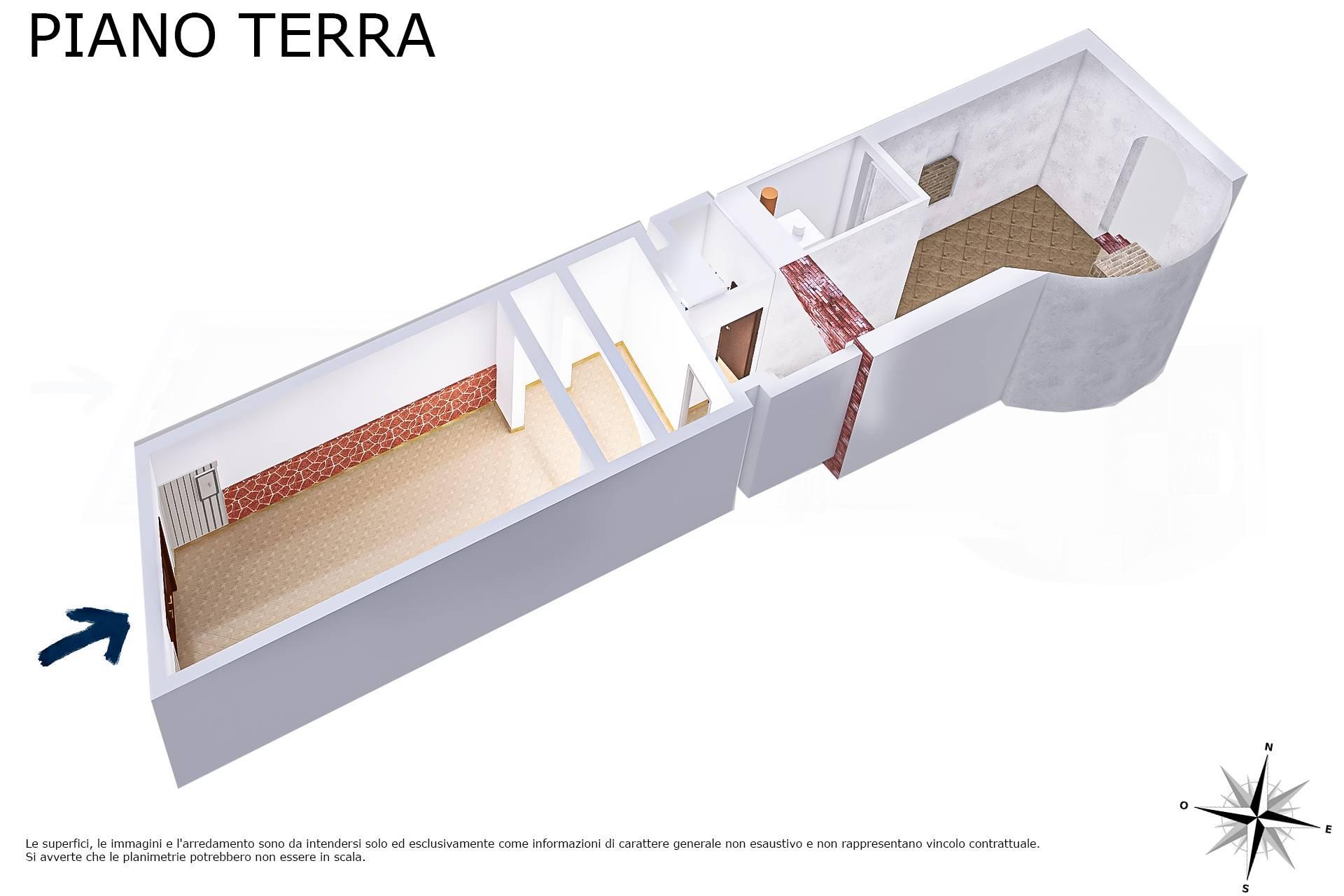 Planimetria 3D lato ingresso