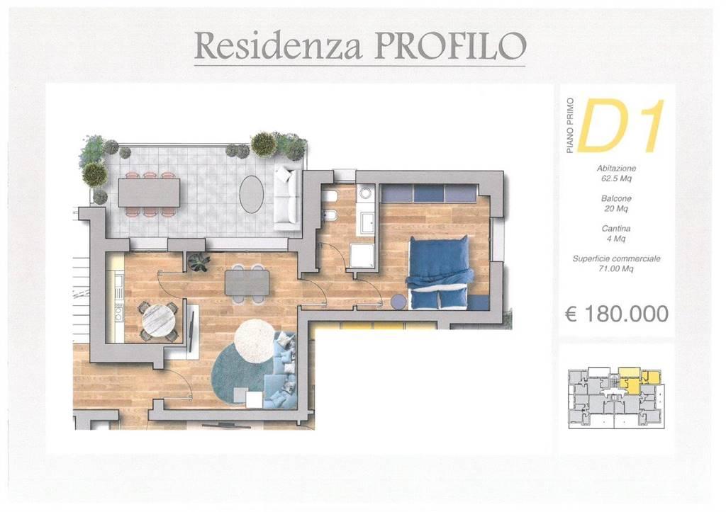 Appartamento in vendita a Melzo, 2 locali, zona Località: STAZIONE, prezzo € 180.000   PortaleAgenzieImmobiliari.it
