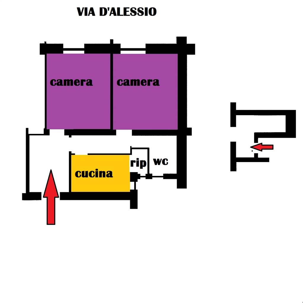 Trilocale in Via D'alessio, Centro Direzionale, Matera