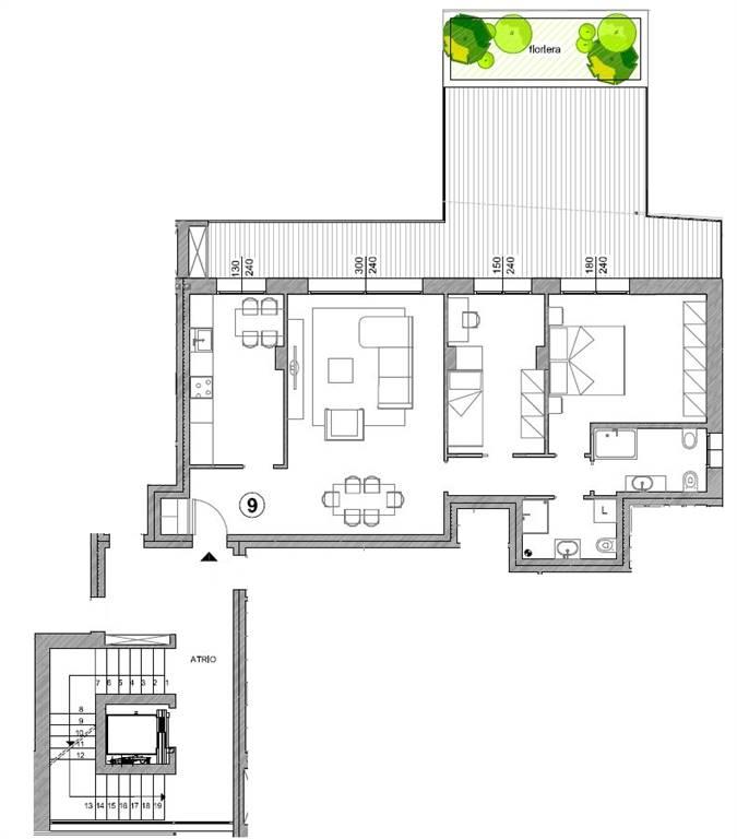 planimetria appartamento - Rif. 33CARA09