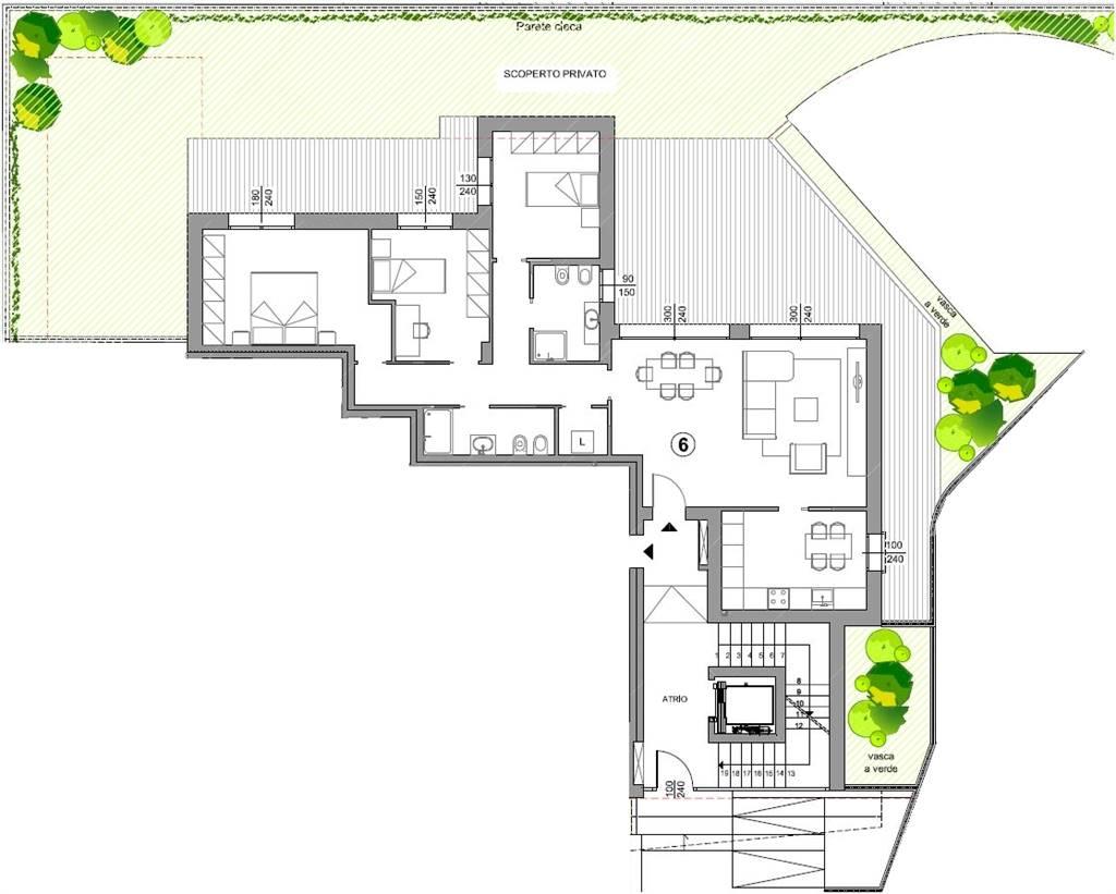 planimetria appartamento mestre carpenedo - Rif. 33CARB06