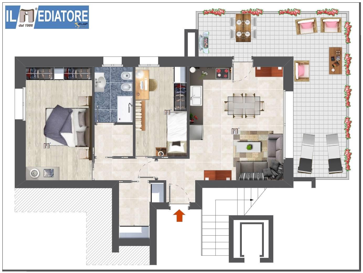 planimetria nuovo appartamento Spinea