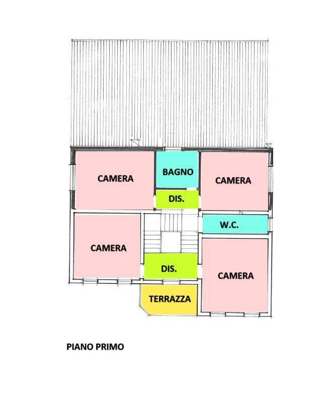 planimetria piano primo casa singola Marghera