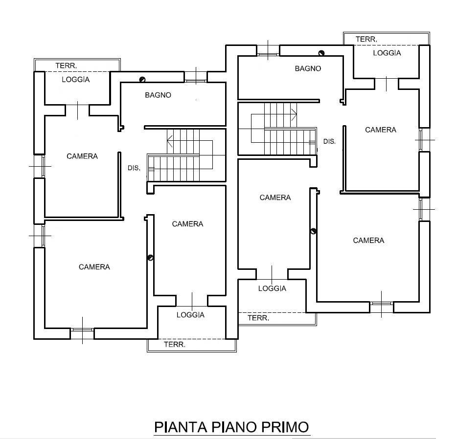 pianta nuova casa Marghera Catene Villabona