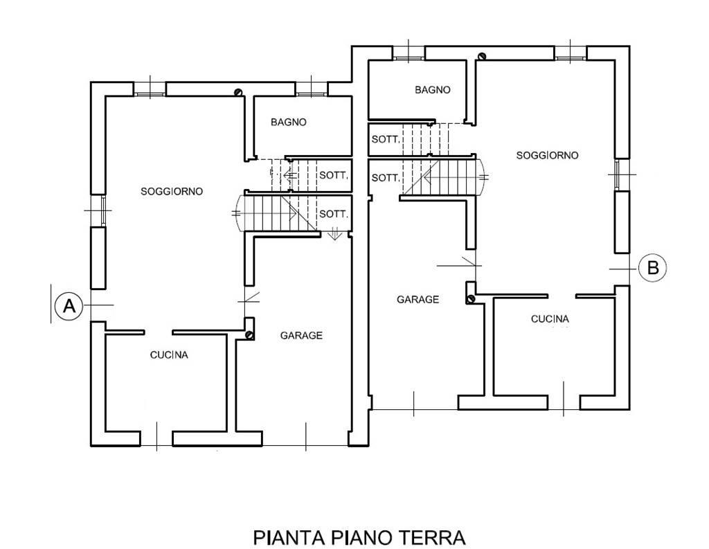 pianta nuova villa Marghera Catene Villabona
