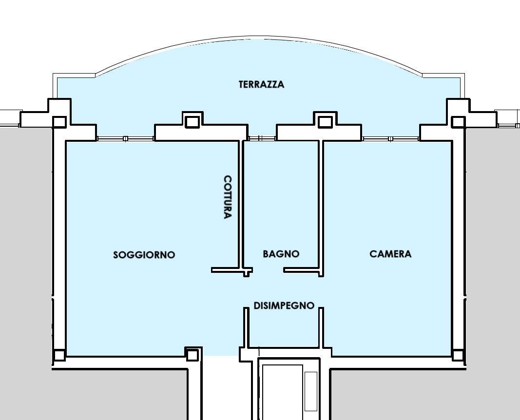 planimetria appartamento vendita Marghera Catene