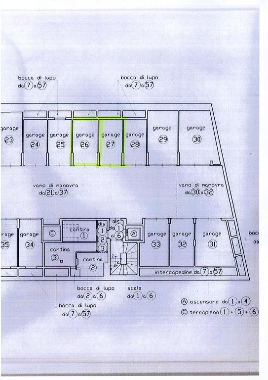 pianta garage - Rif. 0457