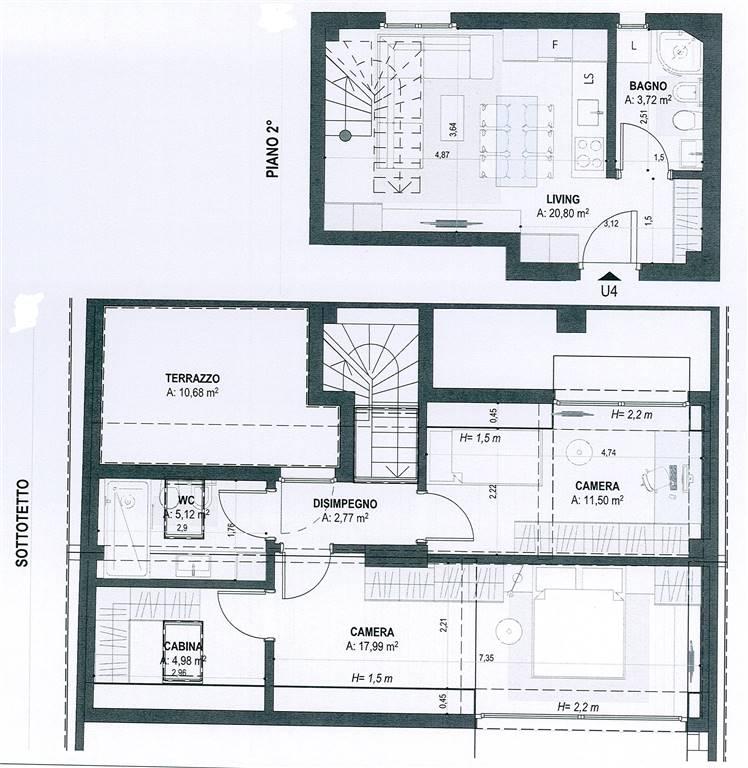 pianta appartamento - Rif. 0602