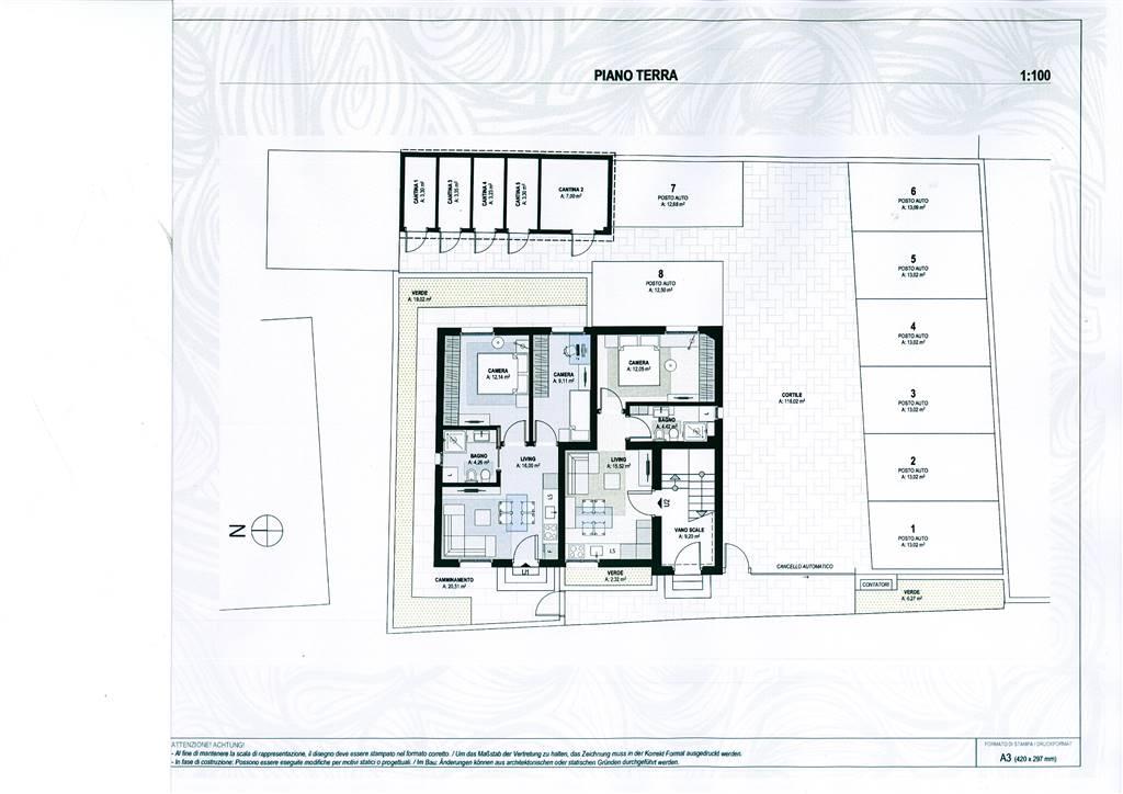 cortile e posti auto - Rif. 0605