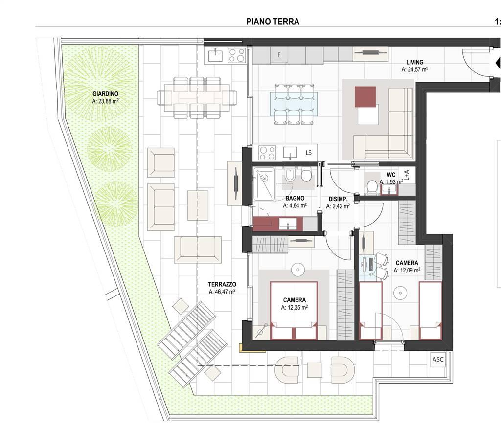 pianta appartamento - Rif. 0631