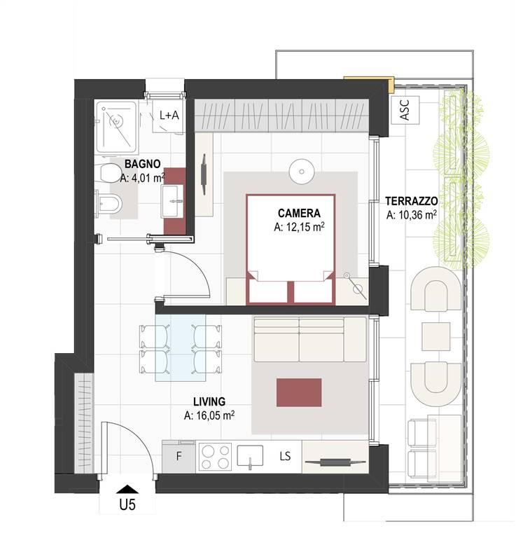 pianta appartamento - Rif. 0632