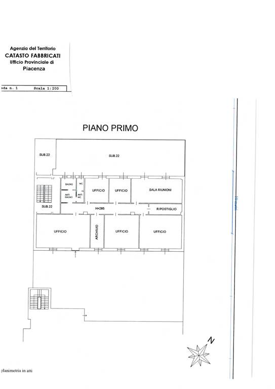Ufficio, B.ra Genova, Piacenza, ristrutturato