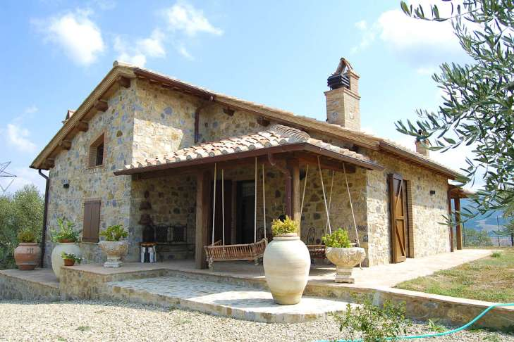 Stone house renovated with pool
