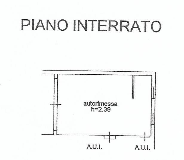 Planimetria Box Auto Doppio