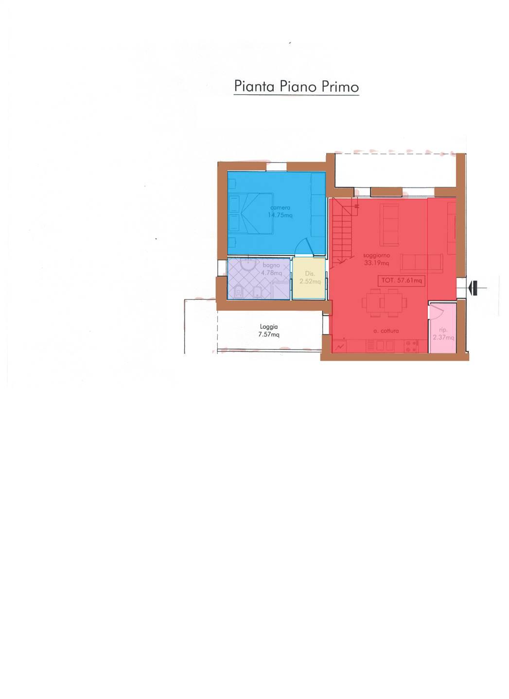 Appartamento in vendita a Borgo San Lorenzo, 5 locali, prezzo € 250.000   PortaleAgenzieImmobiliari.it