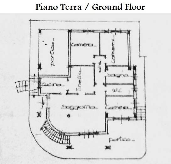 Piantina piano terra/ground floor floor plan