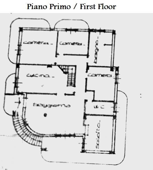 Piantina piano primo/1st floor floor plan
