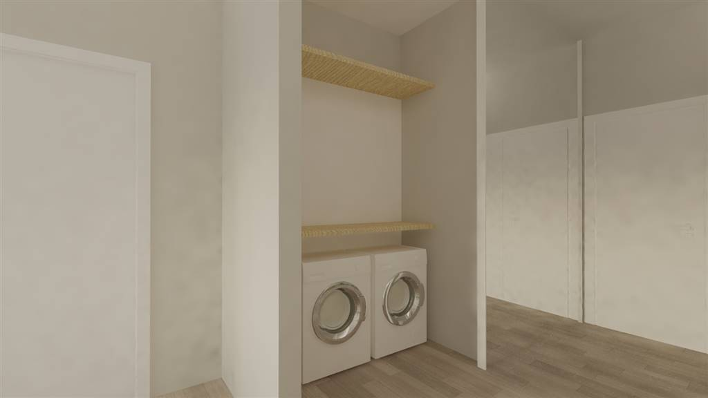 Render ingresso con cabina lavanderia