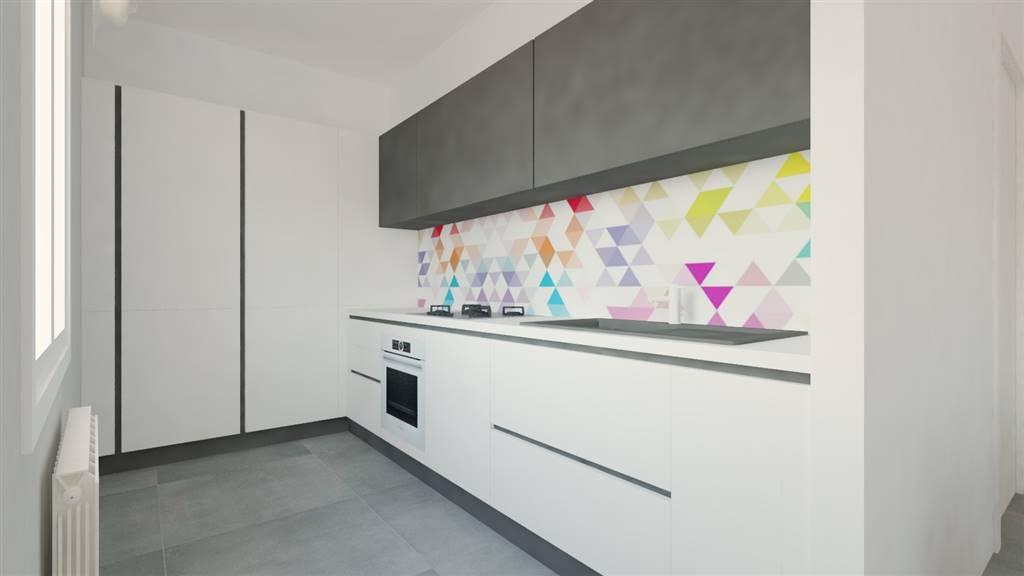 Render cucina a vista