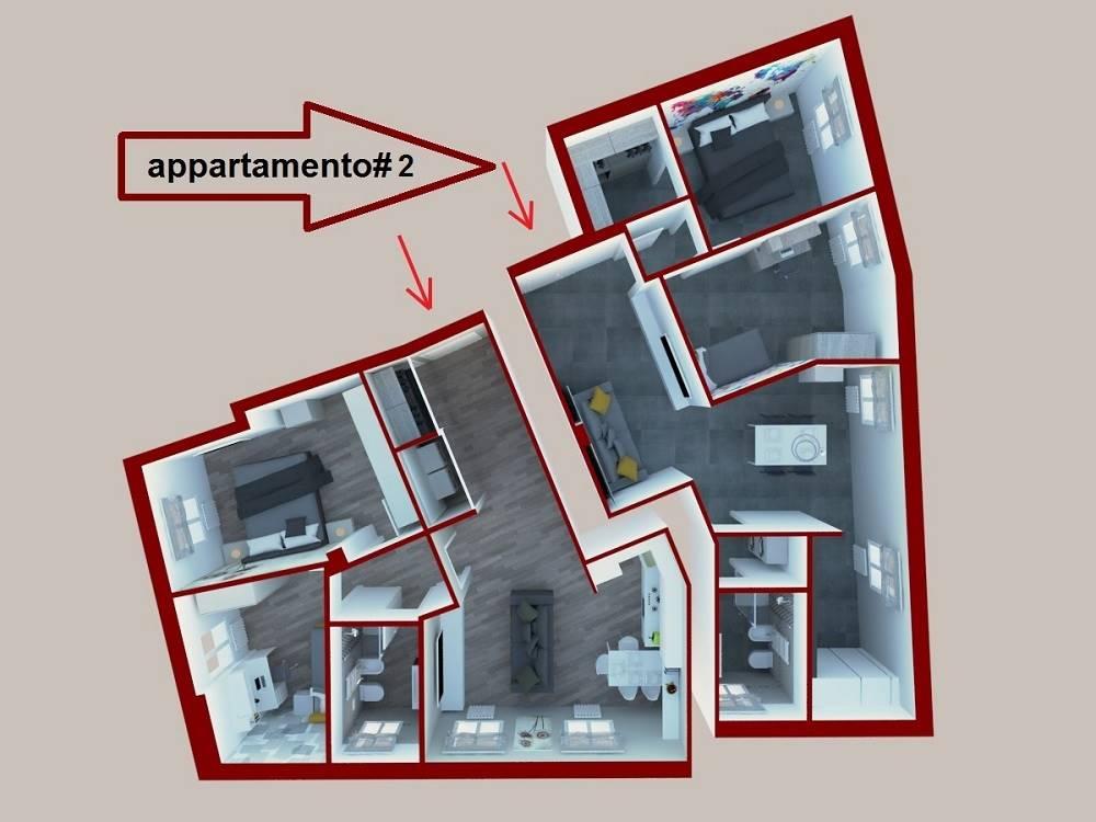 Planimetria 3D dell'appartamento