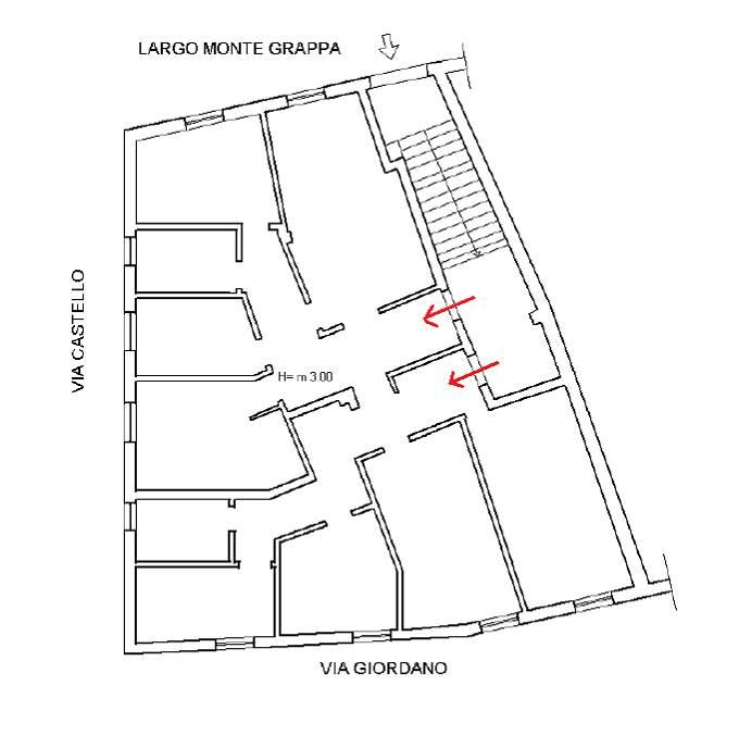 Planimetria 2D intero appartamento