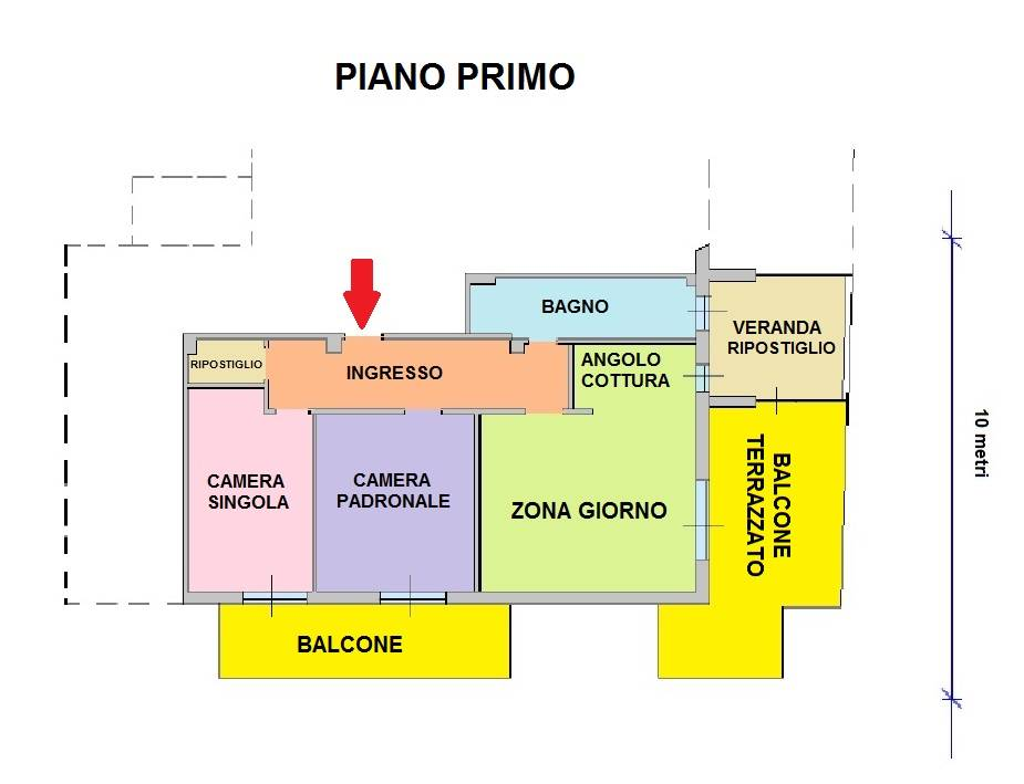 Planimetria appartamento/floor plan