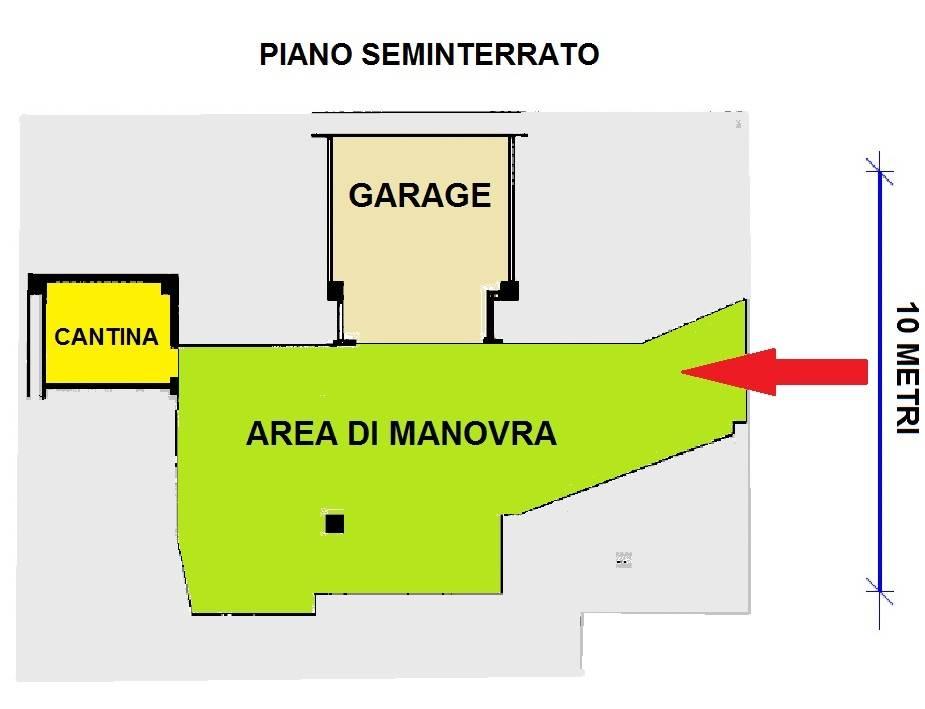 Planimetria garage e cantina/floor plan